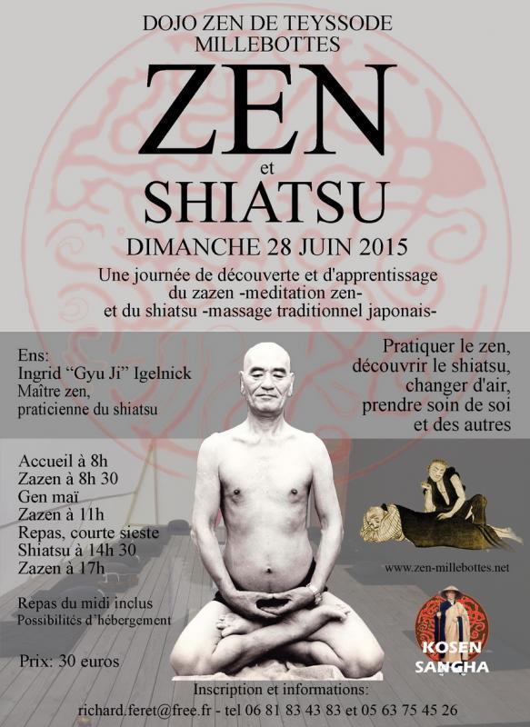 Journée de zazen et shiatsu au dojo zen de Teyssode (Tarn)