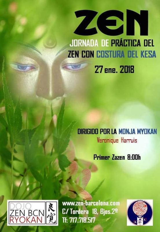 Journée de pratique de zazen et couture du kesa à Barcelone