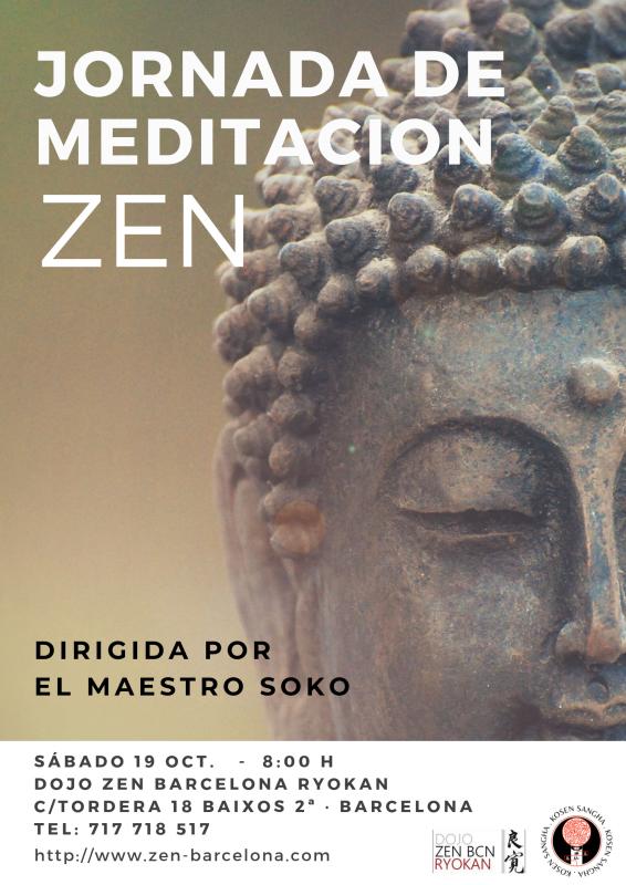 Jornada de meditación Dojo Zen Barcelona Ryokan 19 Octubre 2019