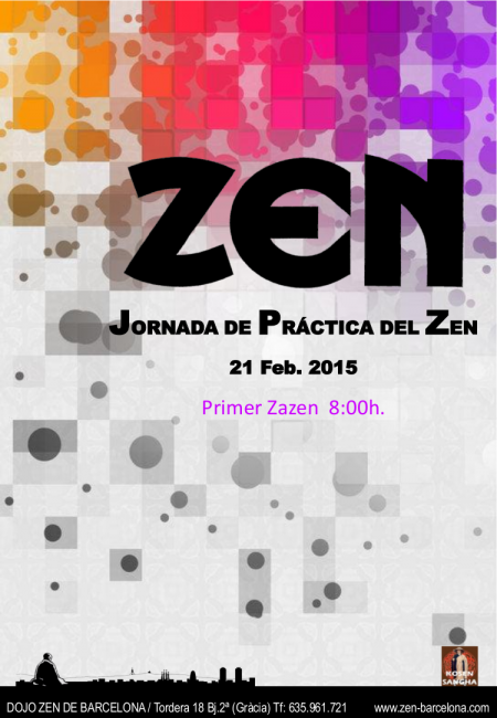 Dojo Zen de Barcelona, jornada práctica Febrero 2015