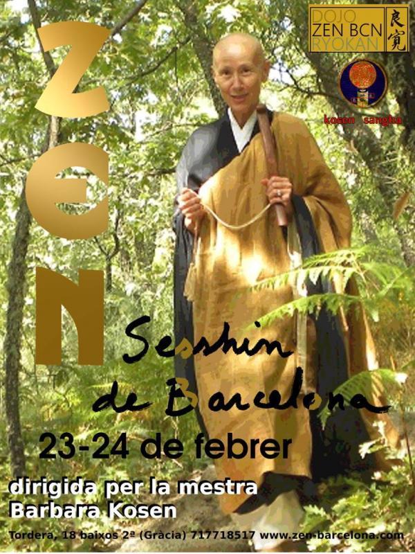 Sesshin maestra Barbara Kosen Dojo Barcelona Ryokan Febrero 2019