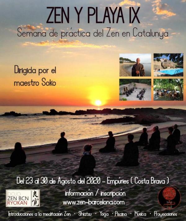 Zen Meditation Zen y Playa IX Catalunya end of August