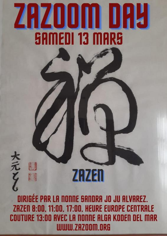 "Calligraphie ""zazen"" de Toshiro"