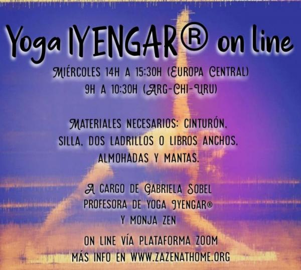 IYengar Yoga course online, with Gabriela San Paï Sobel, Zen nun