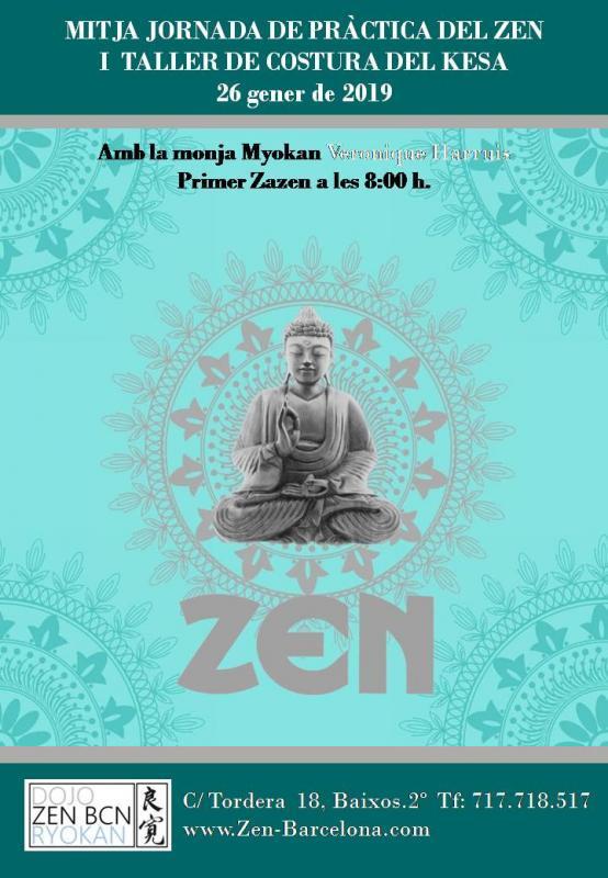 Jornada de meditación y costura Enero 2019 al dojo zen de Barcelona