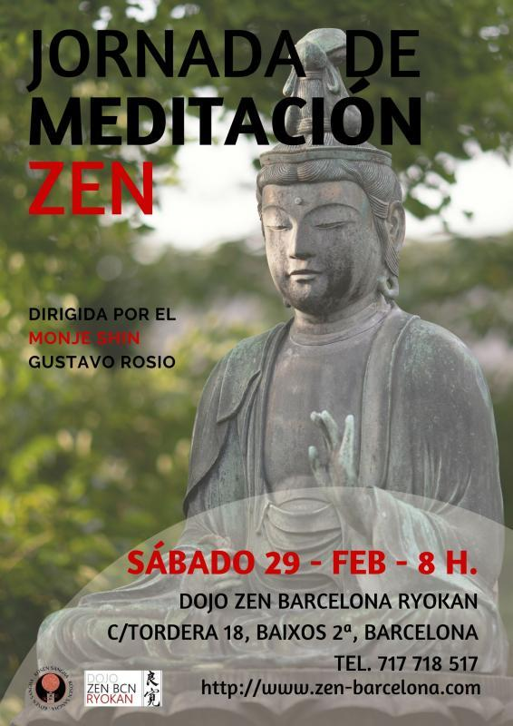 Jornada Meditación Dojo Zen Barcelona Ryokan 29 Febrero 2020