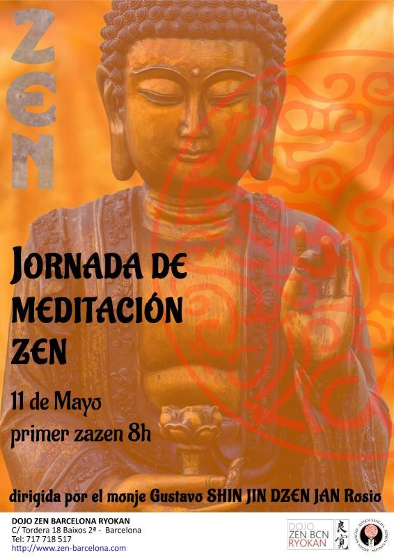 Jornada de practica de la meditacion zen, Zazen, en el Dojo Zen Barcelona Ryokan Mayo 2019