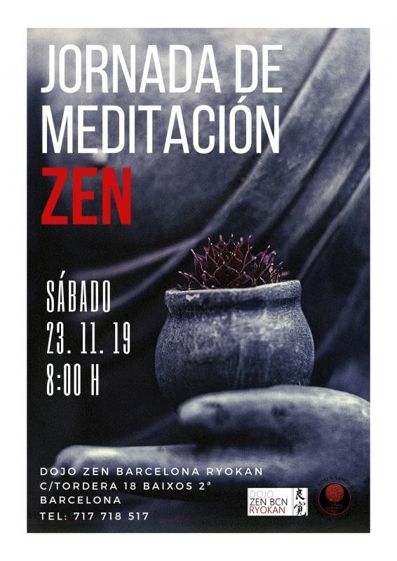 Meditación Jornada Zen en Dojo Zen Barcelona Ryokan 23.11.19