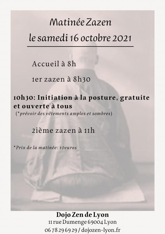 Matinée de zazen au dojo de Lyon