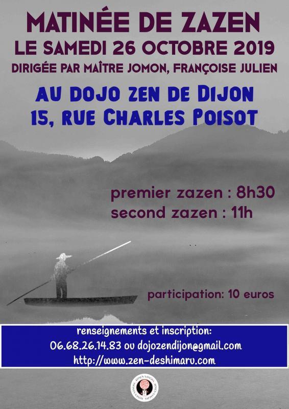 Matinée de zazen au dojo zen de Dijon