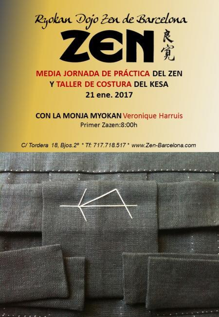 Zazen media jornada taller kesa