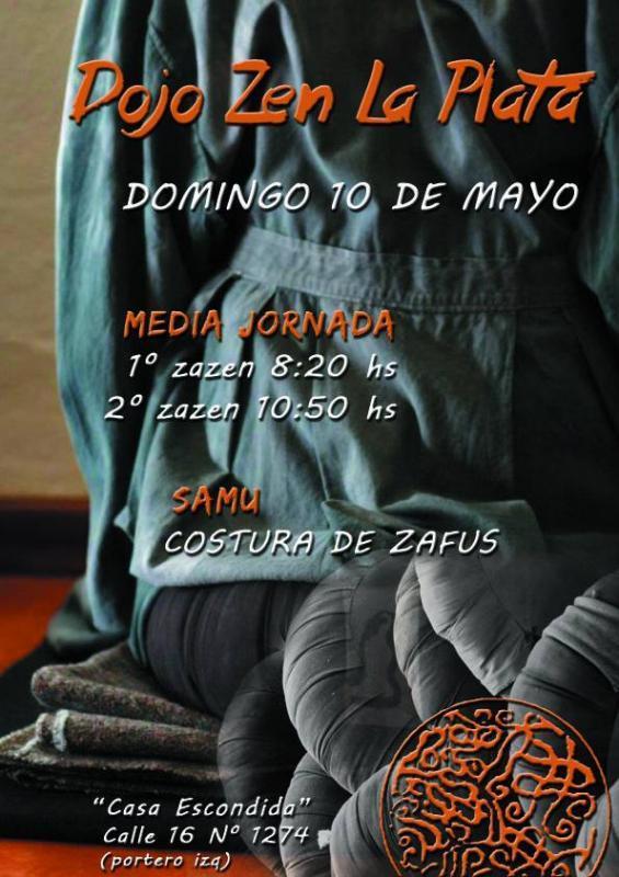 Media Jornada en el Dojo de La PLata. Samu: Costura de Zafus