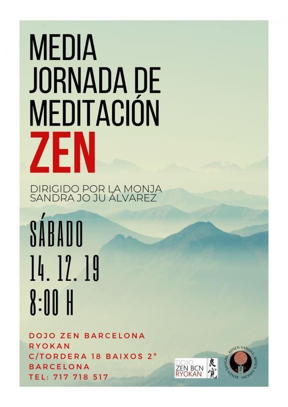 Media Jornada de Meditación Zen 14.12.2019 Dojo Zen Barcelona Ryokan