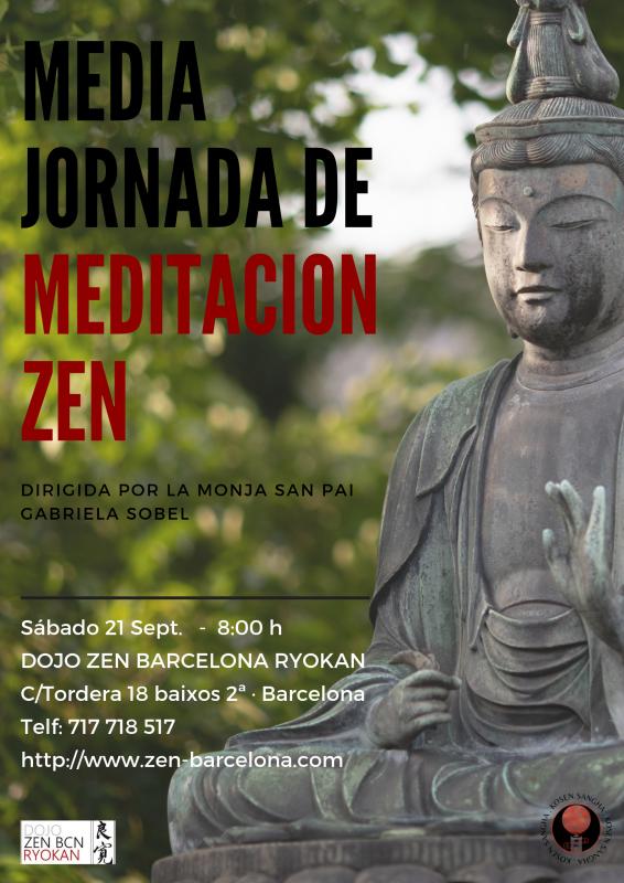 Práctica zazen media jornada 21 Septiembre Dojo Zen Barcelona Ryokan