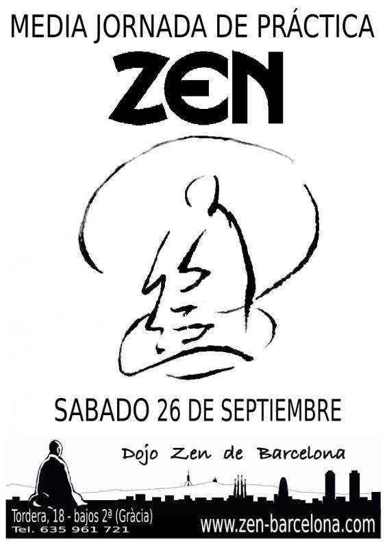Práctica media jornada dojo zen Barcelona