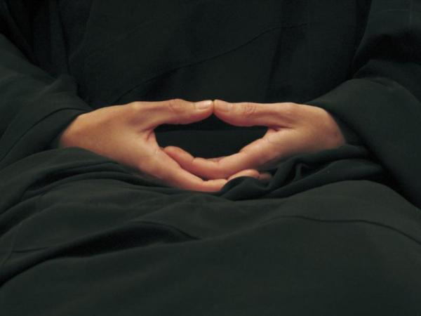 Mudra des mains pendant zazen