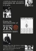 curso de introducción al budismo zen agosto 2013, dojo zen de buenos aires