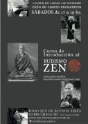Introducción al Zen - Dojo de Buenos Aires. Curso en noviembre