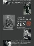 Curso de introduccion al budismo zen, dojo de buenos aires