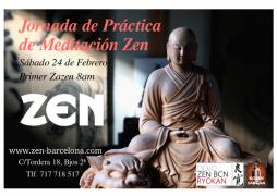 Meditación sedente Jornada en Barcelona Febrero 2018