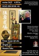 Soko en el dojo zen de buenos aires, primer zazen de marzo