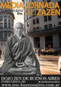 Media jornada de zazen en Buenos Aires, domingo 22 de diciembre