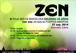 Puertas abiertas Dojo Zen Barcelona