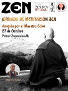 Jornada Zazen Octubre 2018 Maestro Soko