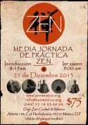 Cartel media jornada zazen diciembre Mexico
