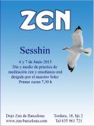 Práctica dia y medio dojo zen de Barcelona Junio