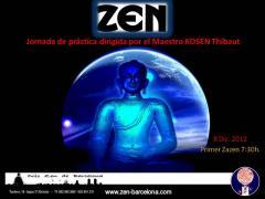 Jornada de práctica del Zen dirigida por el Maestro Kosen en el dojo de barcelona, 8 diciembre