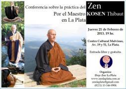 Conferencia en La Plata : la práctica del Budismo Zen, por el Maestro Kosen