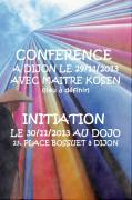 Conférence sur le Zen de Maitre Kosen à Dijon