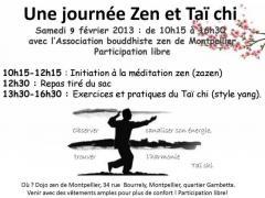 Journée d'initiation Zazen et Taï chi au dojo de Montpellier