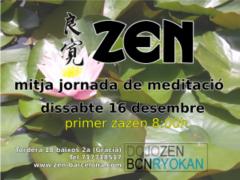 Media Jornada meditación Zen Diciembre 2017 Barcelona