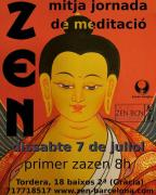 Zazen en Dojo Zen Barcelona Ryokan Julio 2018