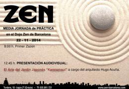 Media Jornada práctica de zazen Dojo Barcelona