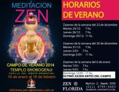 Horarios de Zazen en el dojo zen de Florida