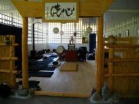 L'intérieur du dojo du temple zen Yujo Nyusanji