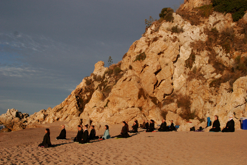 Dojo Zen de Barcelona Zazen playa