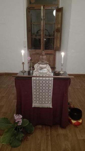 L'autel du Dojo zen de Trotellà
