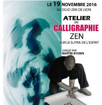 Atelier de calligraphie au dojo zen de Lyon