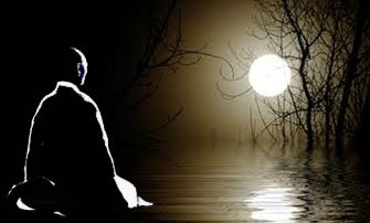 Zazen under the moon