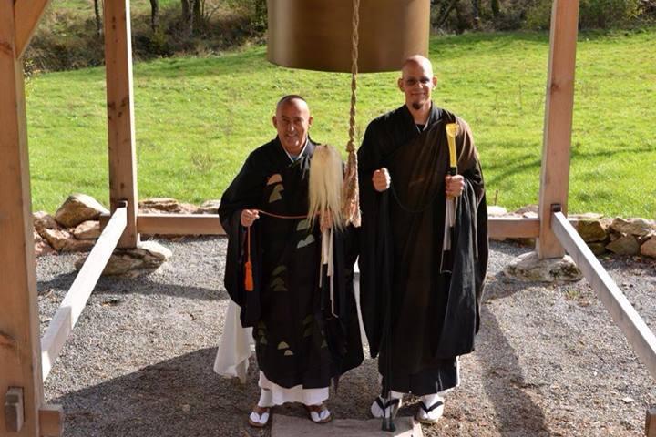 Maître Kosen et Loïc Daoyi Kosho Vuillemin