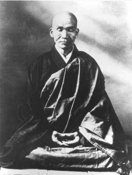 maestro Kodo Sawaki en psotura de zazen