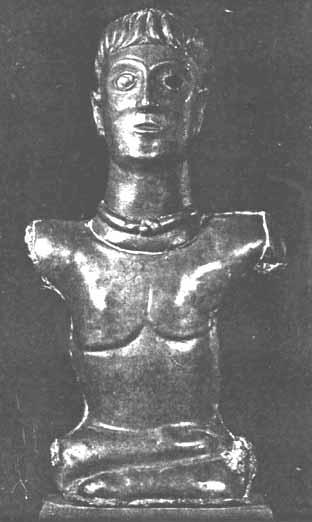 Statue galo-romana, zazen posture