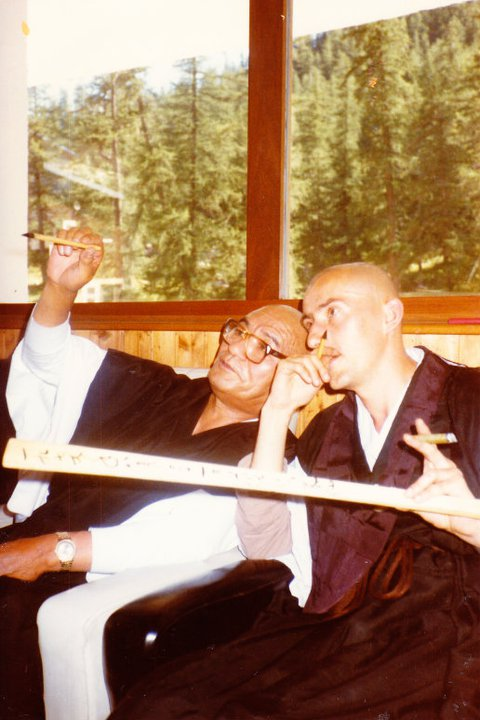Maître Taisen Deshimaru et Kosen Tibaut