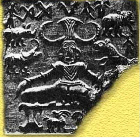 Zazen posture on coin, Harappa civilization 27OO a.c.