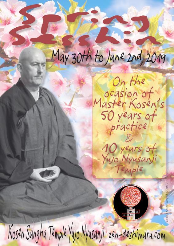 Spring Sesshin 2019: Zazen the méditation Zen, Caroux Temple near of Montpellier