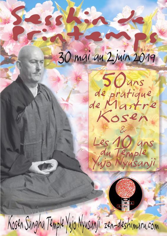 Sesshin de Printemps 2019: Zazen la méditation Zen, Temple du Caroux près de Montpellier